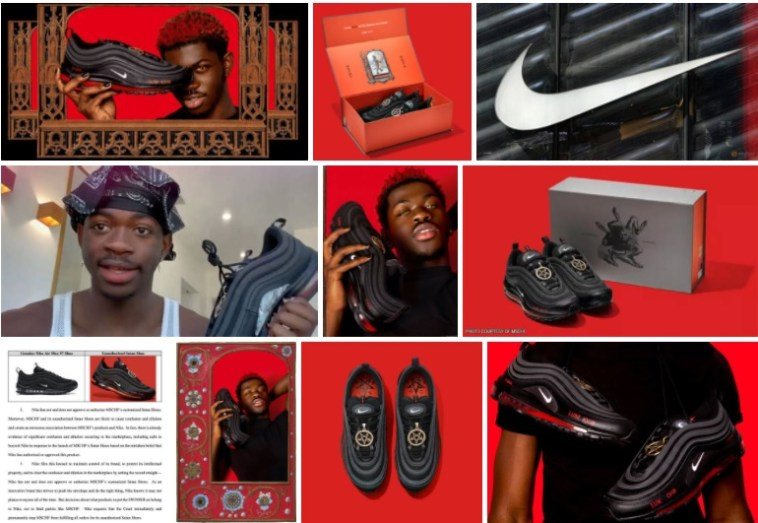 Nike shoes with human blood