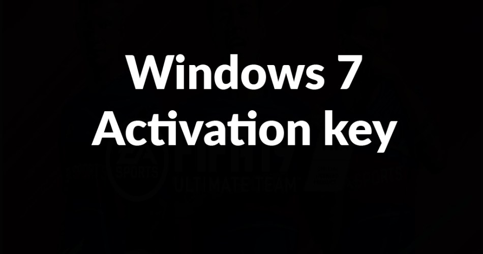 Windows 7 Activation key TW