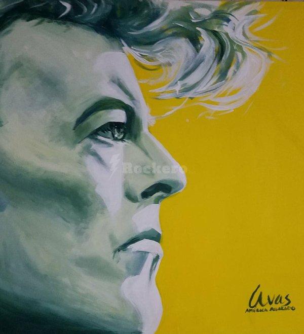 david bowie original painting canvas