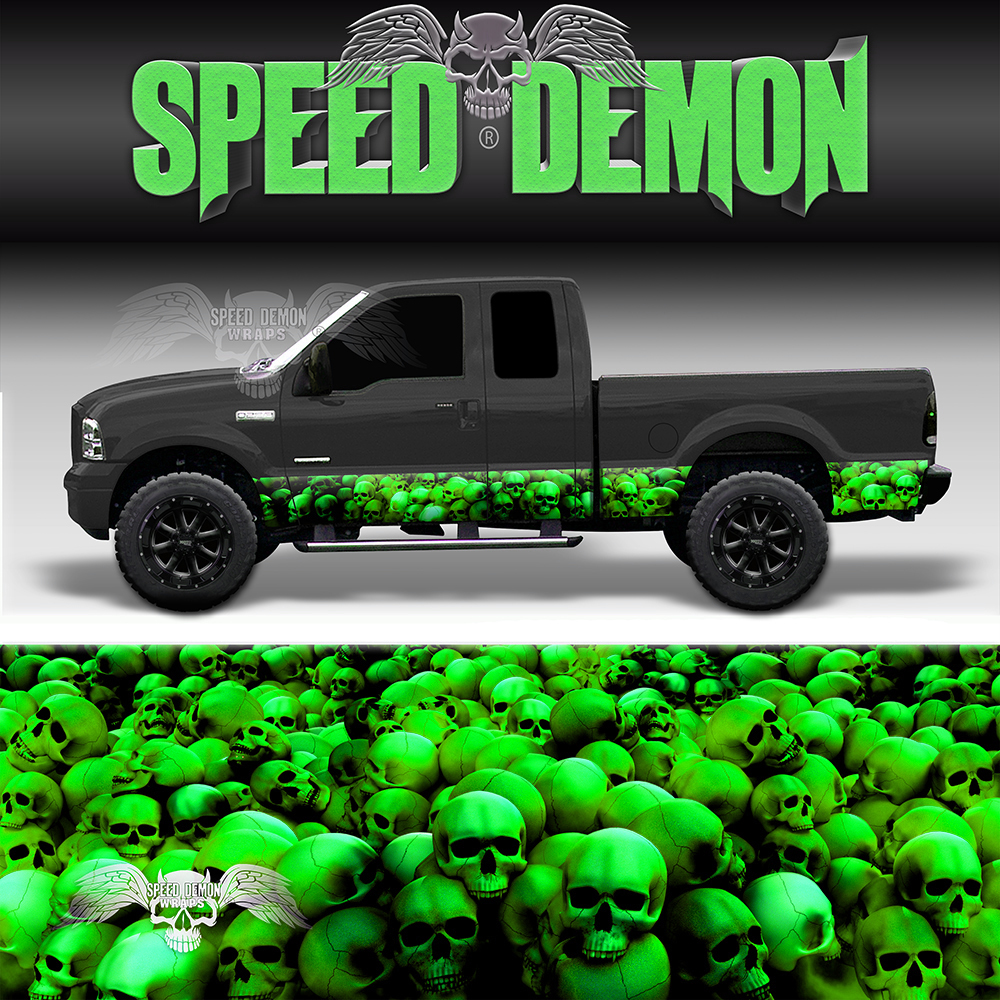 Skull Crusher Rocker Panel Wrap Green