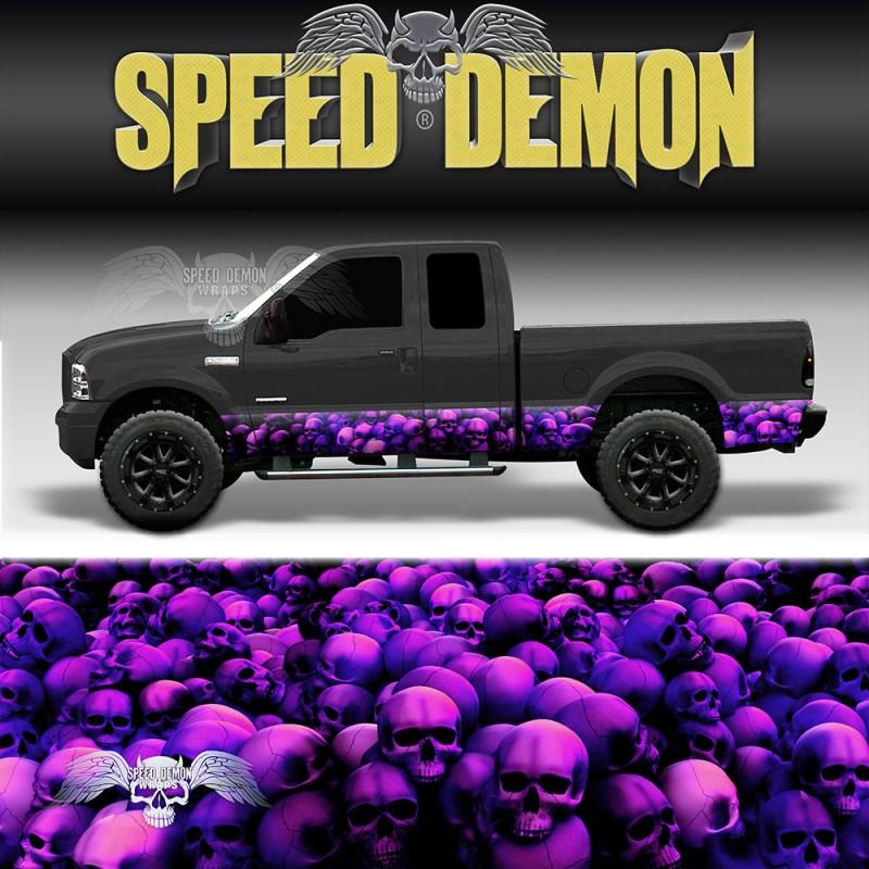 Skull Crusher Rocker Panel Wrap Purple