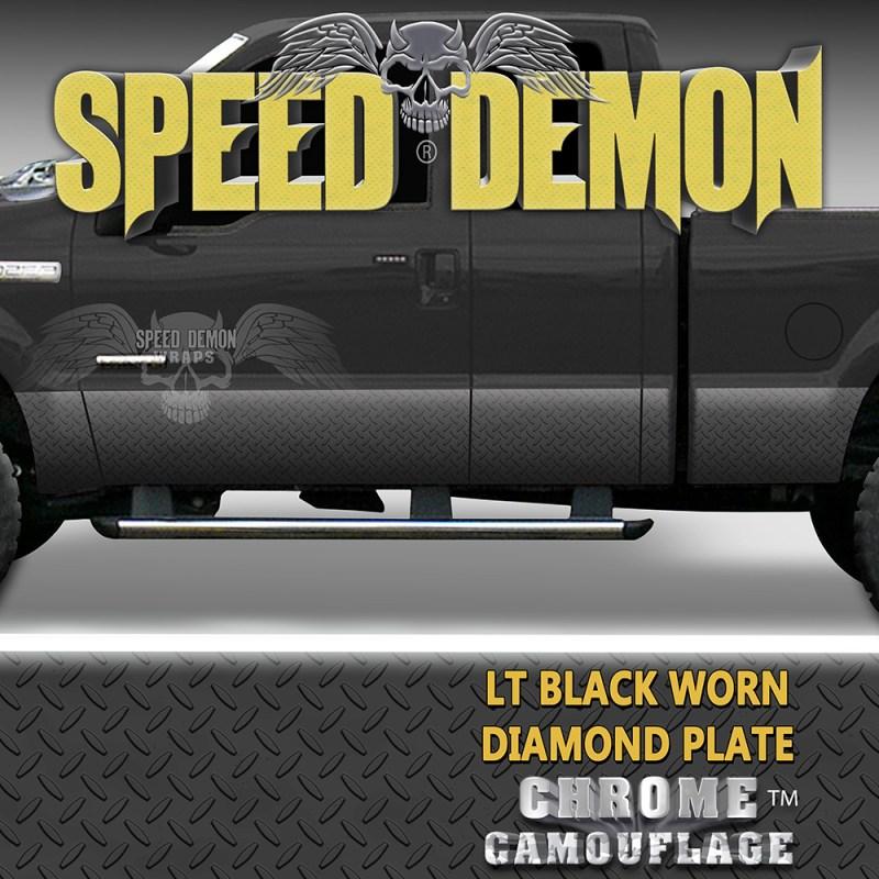 Black Diamond Plate Rocker Panel Wraps