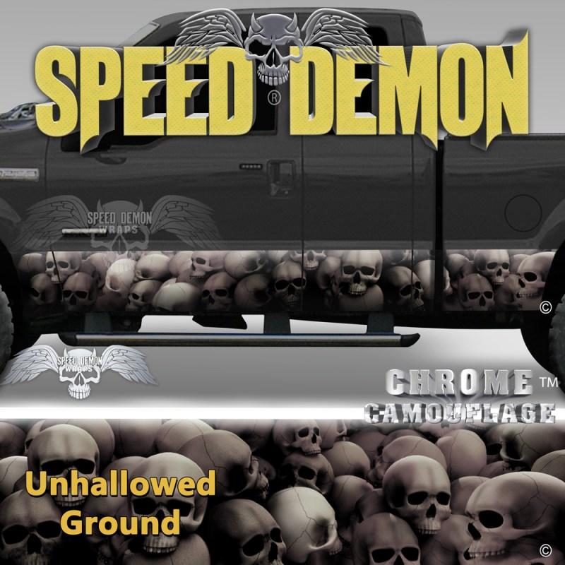 Skull Truck Rocker Panel Wraps Subdued Skulls Unhallowed Ground