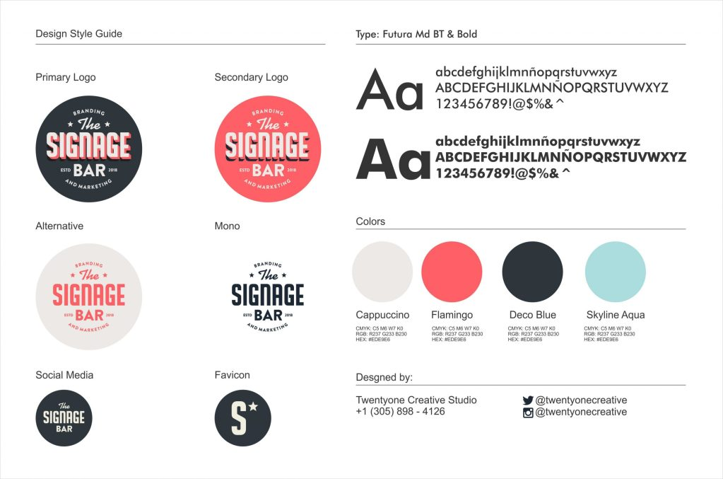 Signage Bar Brand Guidelines