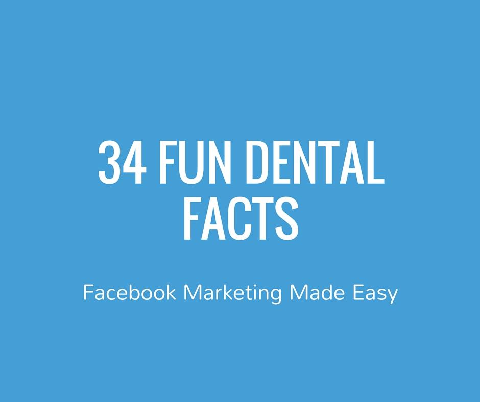 social media kit 34 dental fun facts