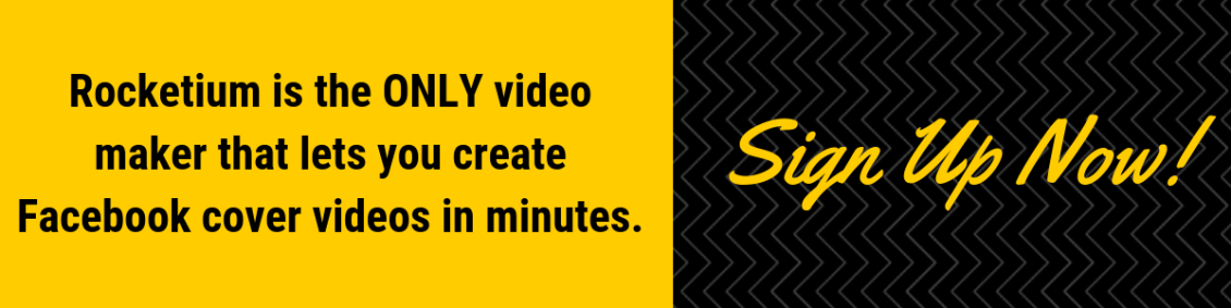 Make facebook cover videos with rocketium