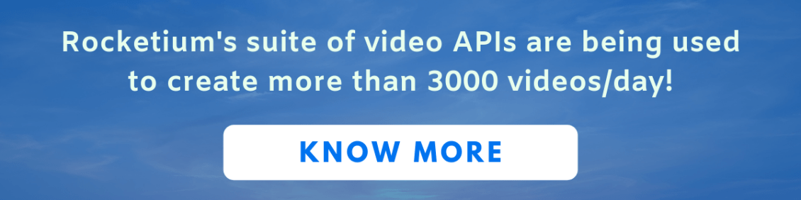 Real estate marketing can be achieved by making videos in bulk using video API