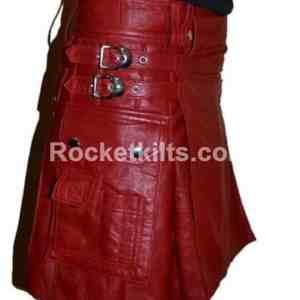 Leather Gladiator Kilt,mens gladiator kilt,leather gladiator skirt,mens leather kilts uk,leather kilt, red kilt, kilt for sale, great kilt