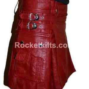 Leather Gladiator Kilt,mens gladiator kilt,leather gladiator skirt,mens leather kilts uk,leather kilt, red kilt, kilt for sale, great kilt