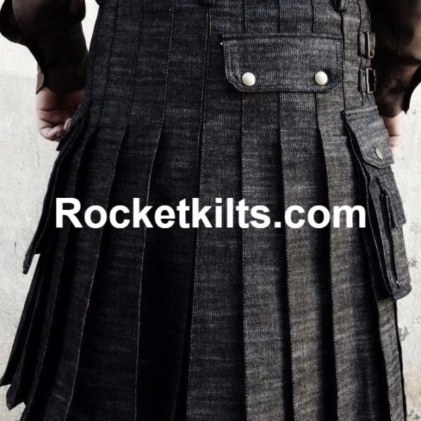 denim kilt, mens denim kilt,blue kilt, black kilt,mens black kilt,kilt for sale, great kilt