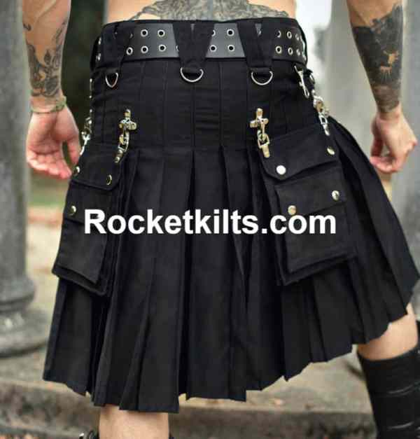 gothic kilt,steampunk kilt,hybrid kilts,cargo kilt,black kilt,kilt for sale, great kilt, cheap kilt
