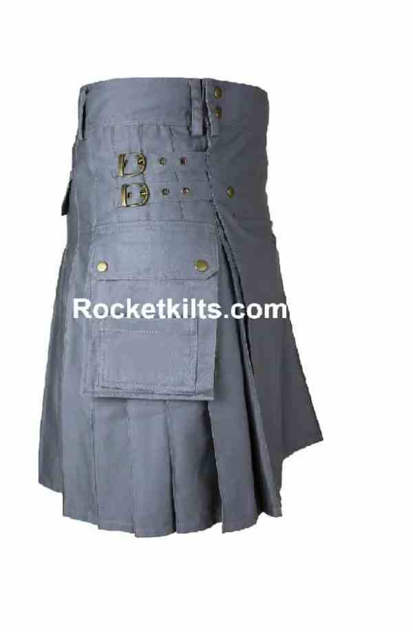 utility kilt,grey kilt,grey utility kilt, Scottish Highlands, traditional scottish kilt, highland kilts for sale,Scottish highland kilt