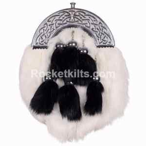 kilt sporran,black rabbit sporran,sporran for sale,irish sporran,fur sporran,