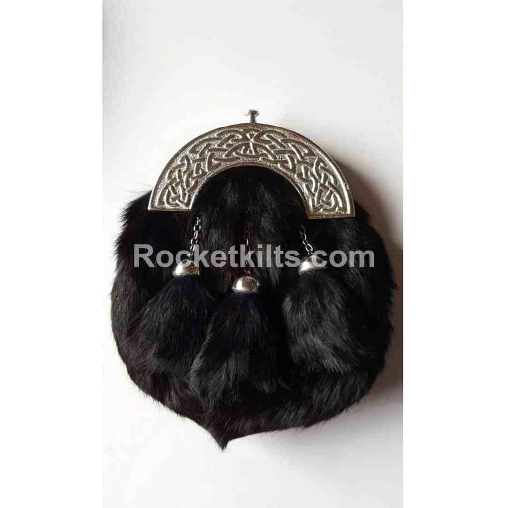 black rabbit sporran,sporran for sale,irish sporran,fur sporran,