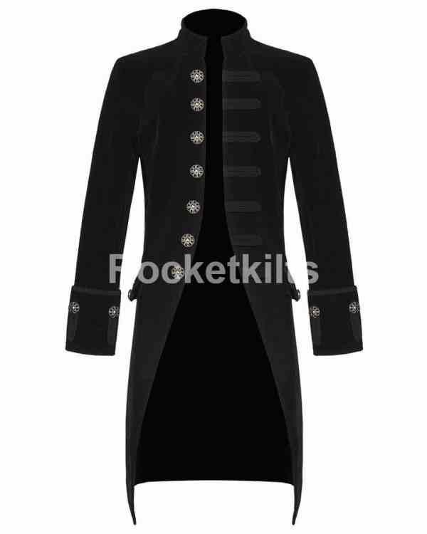 black velvet frock coat,modern frock coat,gothic frock coat, gothic frock coat men's,mens frock coat uk,blue velvet coat
