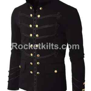 Embroidery Military jacket,gothic military jacket, military jacket mens, mens gothic jacket