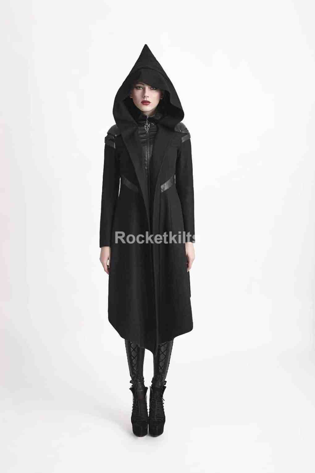 365e21023 back,ladies red coat,womens gothic trench coat,gothic coats plus size,