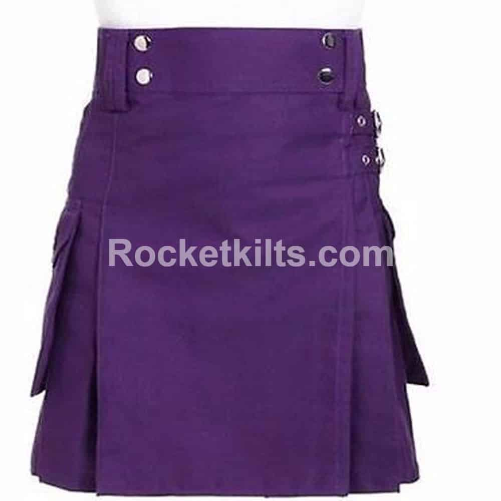 Purple color dress kilt