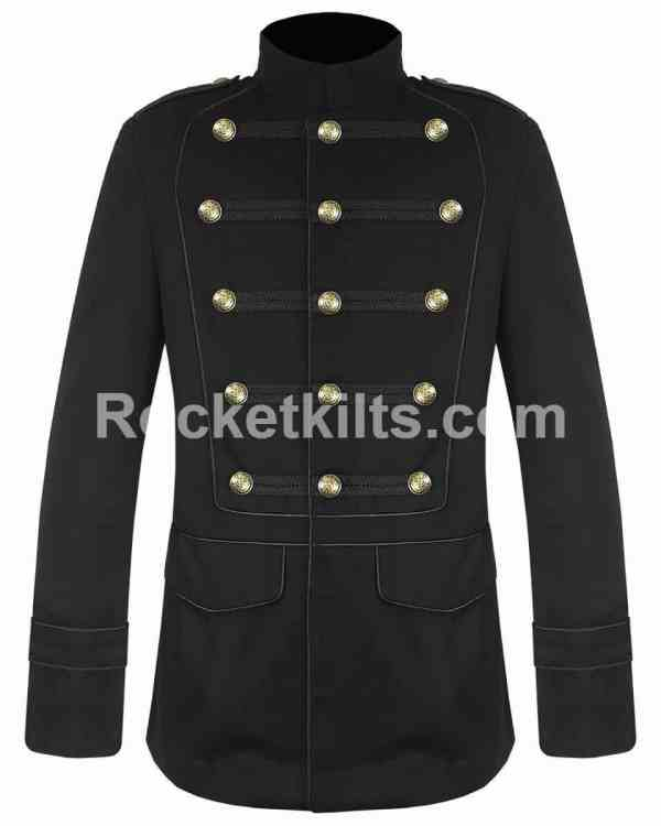Black military jacket,vintage peacoat,gothic jackets mens,long jacket,steampunk trench coat mens,mens victorian trench coat