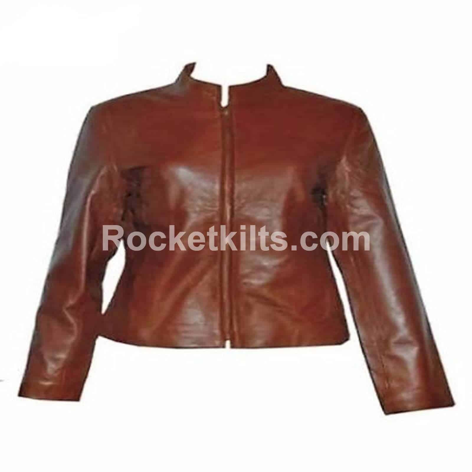 313a8fb24 Vintage Style Leather Women's Tailcoat Jacket For Sale