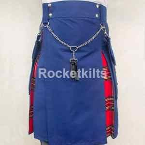 hybrid kilts,fashion kilts, hybrid fashion kilt, fashion kilt, blue kilt, everyday kilts,mens utility kilts