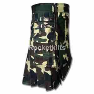 woodland camo,camouflage kilt, camo kilt, camo utility kilt, urban kilt, kilt for sale, great kilt