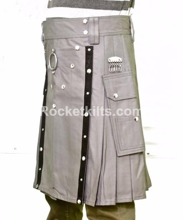 Grey Fashion kilt for sale