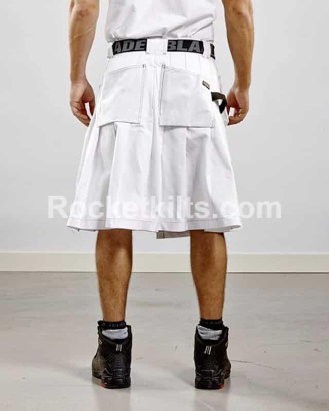 White Color Dress kilt