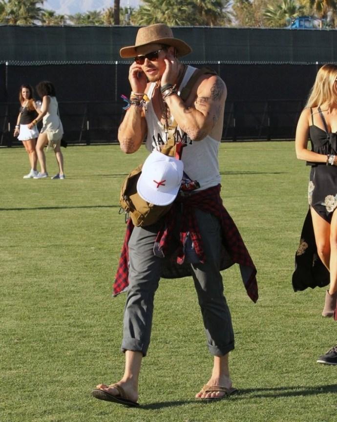 Kellan Lutz en Coachella 2014