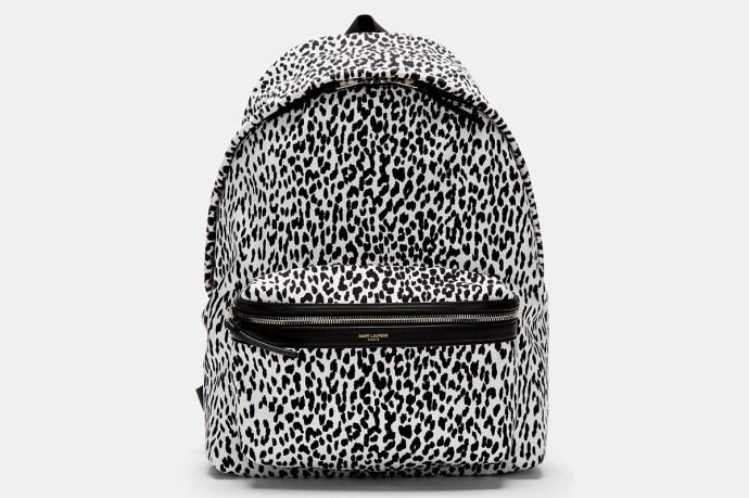 Saint Laurent Leopard Backpack SS14