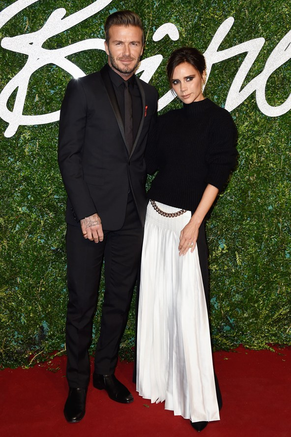 David Beckham British Fashion Awards 2014