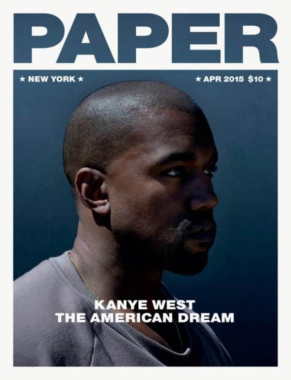 KANYE WEST PARA PAPER MAGAZINE 1