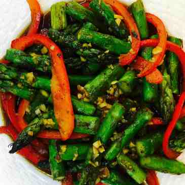 rocket spicy asparagus