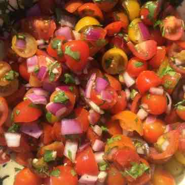 heirloom cherry tomato salsa