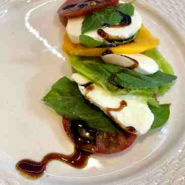 Deerfield Farm heirloom tomato caprese feat. balsamic reduction