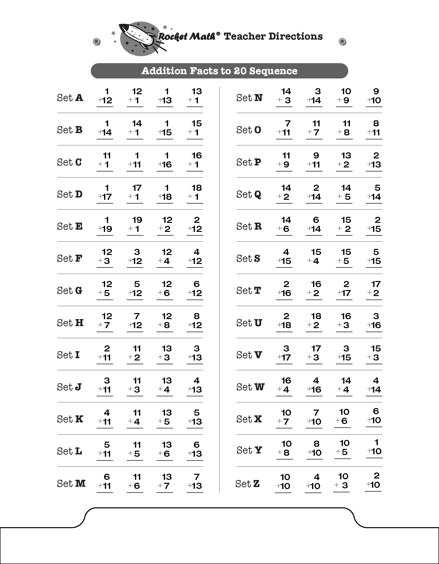 Printables Rocket Math Addition Worksheets safarmediapps – Rocket Math Worksheets