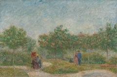 Garden with courting couple