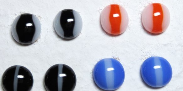 Striped Fused Glass Cabochons