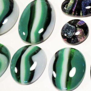 Fire Polished Cabochons