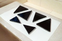 Fused Glass Triangles