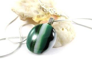 Green Striped Pendant