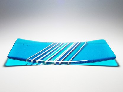 Blue Fused Glass Platter