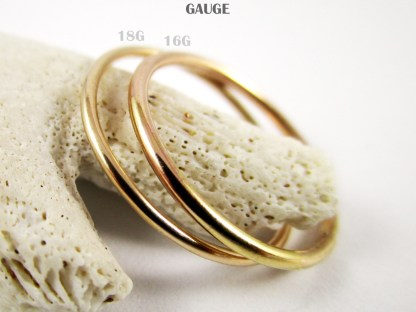 Gold Filled Stacker Rings