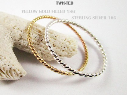 Twisted Stacker Rings