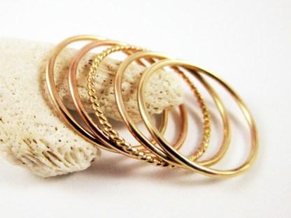 Gold Stacker Ring Set