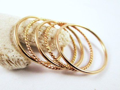 Gold Filled Stackable Rings