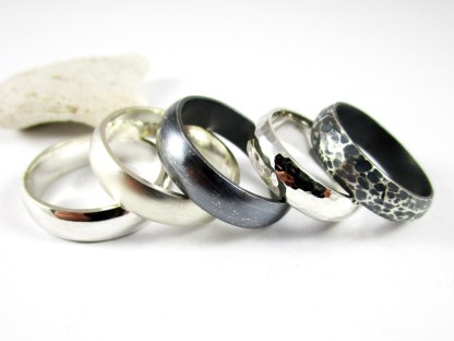 Half Round Silver Ring