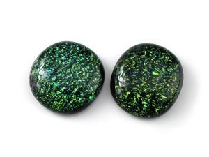 Green Dichroic Cabochons
