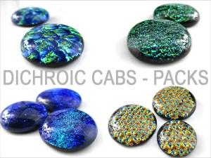 Dichroic Cabochons Packs
