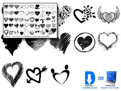 Heart Decals